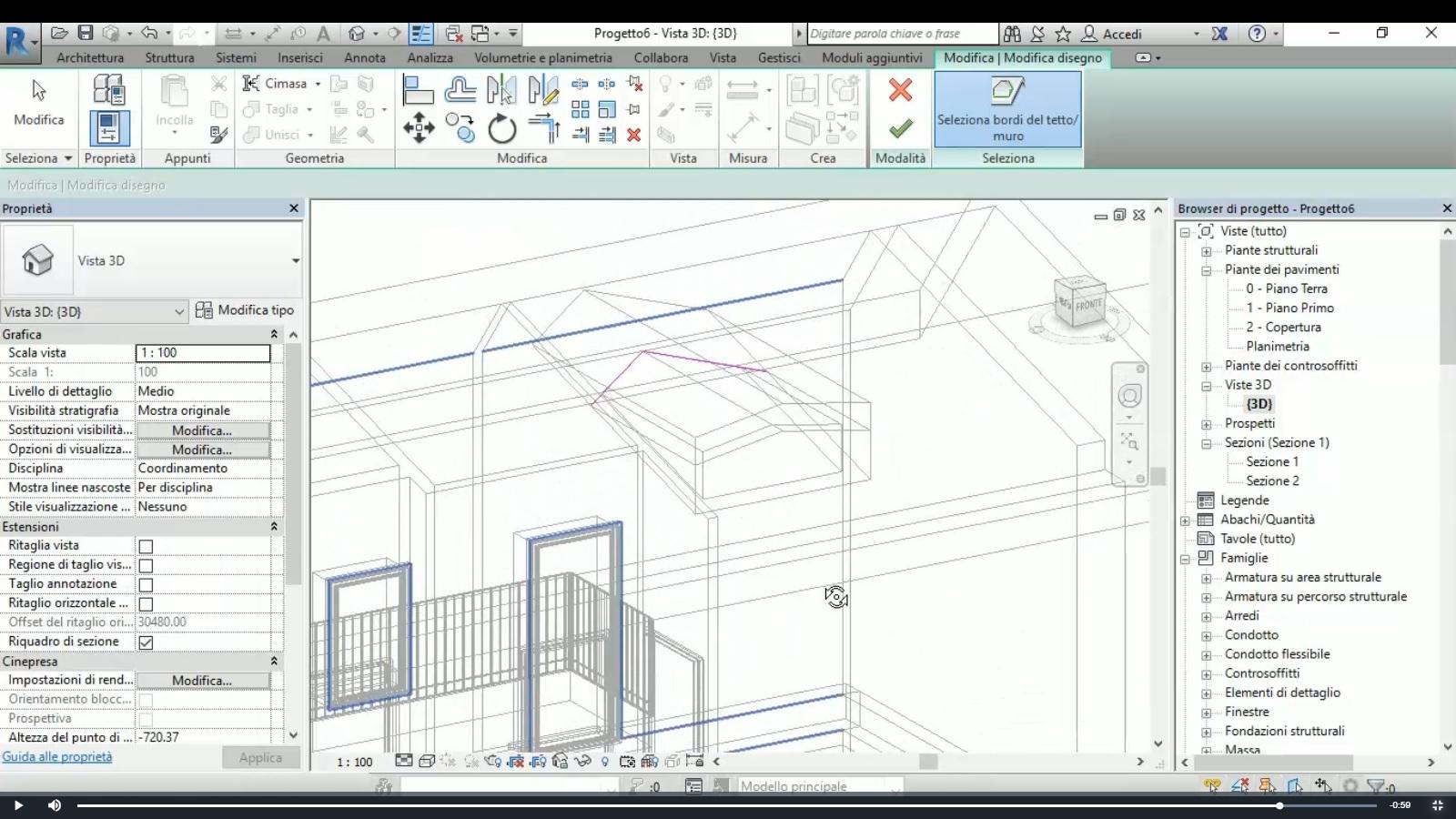 Corso REVIT base elearning modellazione BIM