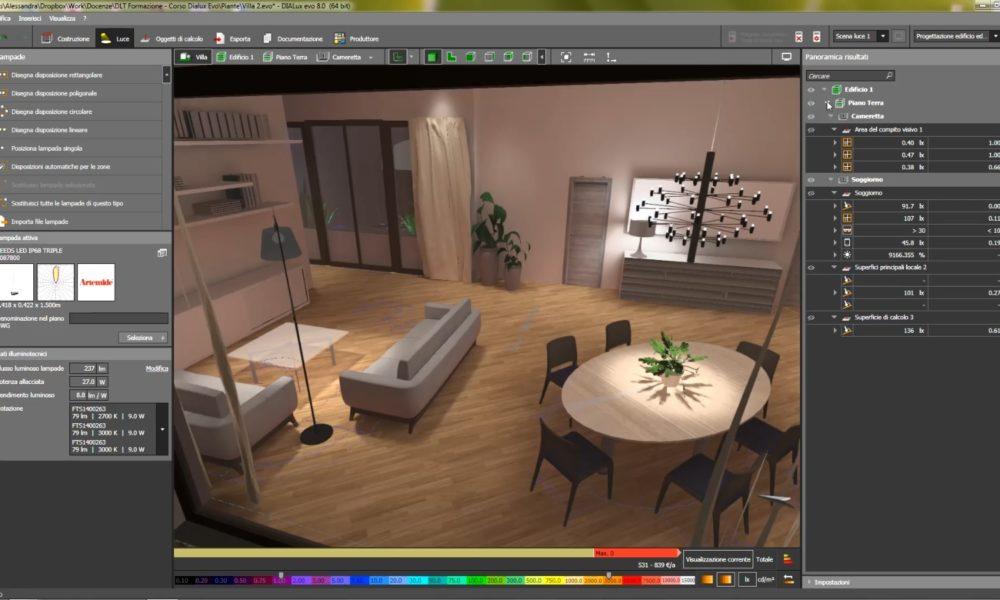 Corso Dialux evo il software per la progettazione illuminotecnica